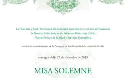 MISA SOLEMNE EN HONOR DE SAN JUAN EVANGELISTA