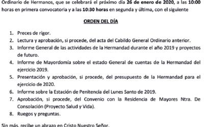 CABILDO GENERAL DE HERMANOS 2020